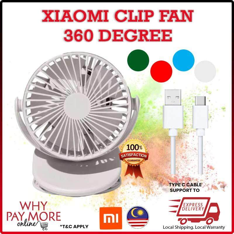 [READY STOCK]Xiaomi Solove F3 Clip-On Portable Mini Fan Handheld Windshield Removable Rechargeable Build in Battery