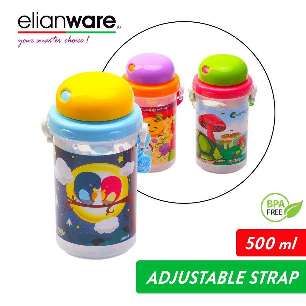 Elianware 500ml Twistable Cover Baby Tumbler with Straw
