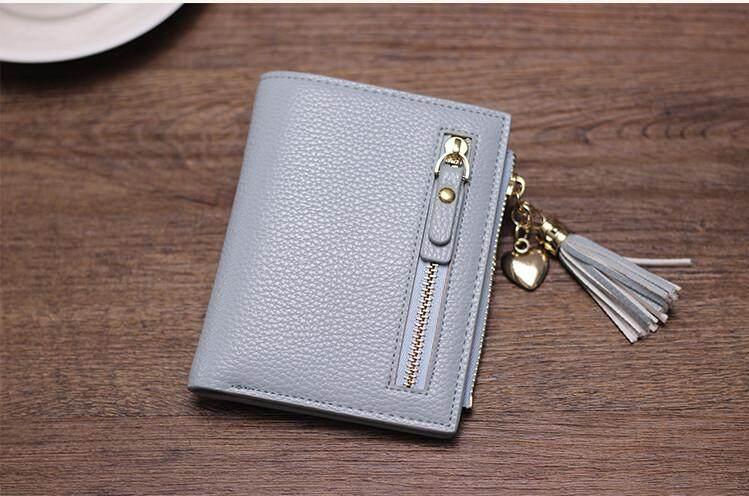 Woman Short Purse Wallet Mini Korean Fashion Comely Plain Color