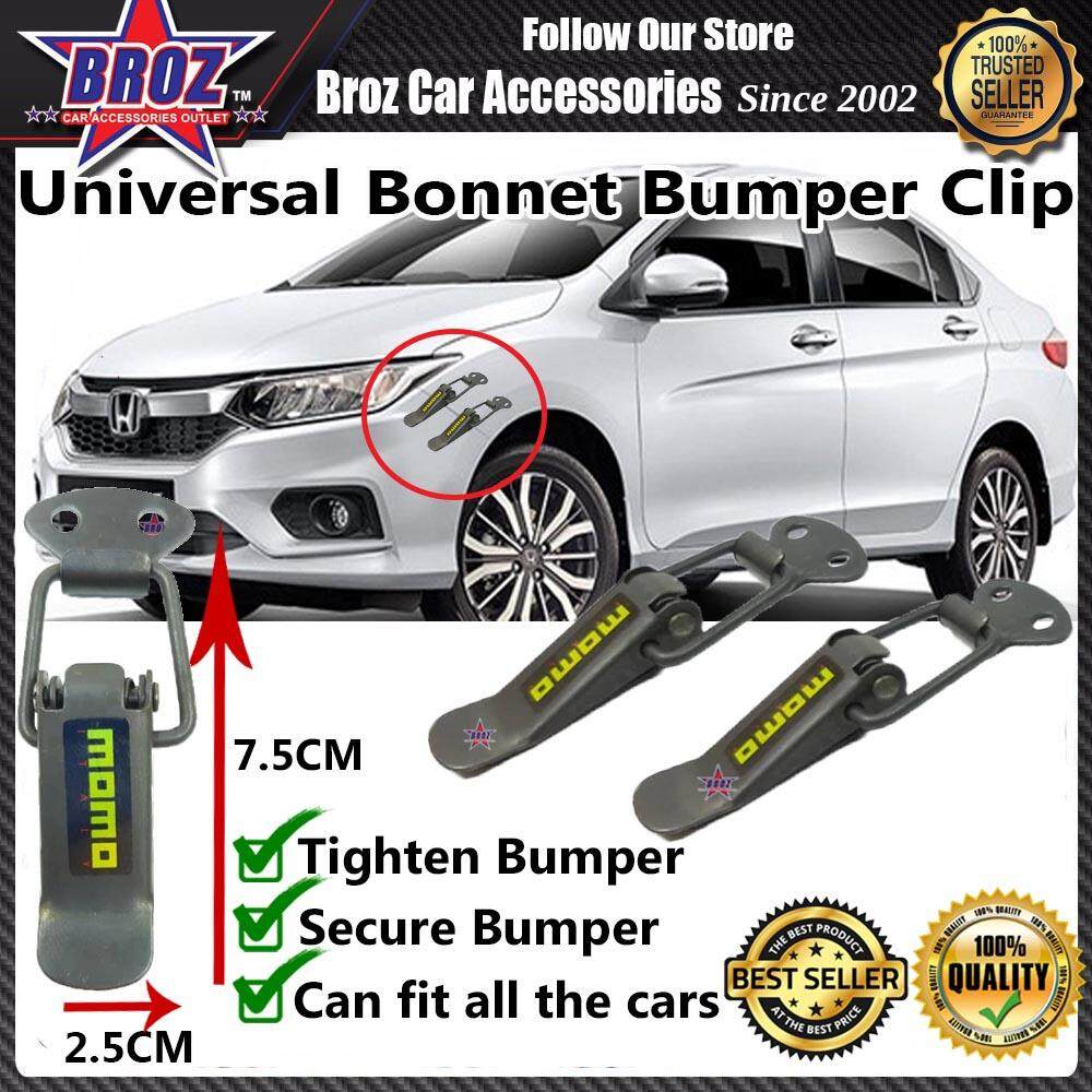 Universal Car Bonnet Bumper Clip Small - Momo Black