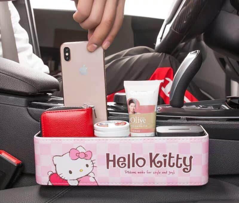 Hello Kitty Cute Creative Car Seat Side Storage Seam Storage Coin Organizer Car Decoration