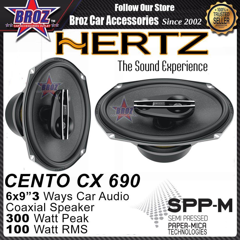 "Hertz Cento CX 690 6x9""inch 300 Three Way Coaxial Car Audio Woofer"