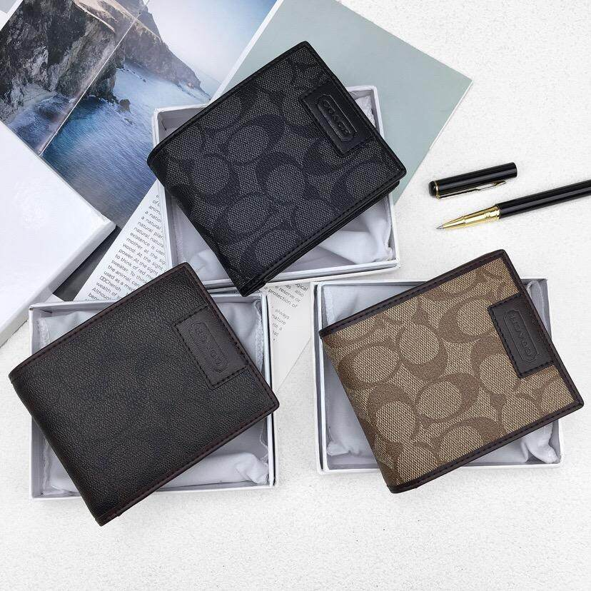 COACH Compact ID Wallet In Signature F74736