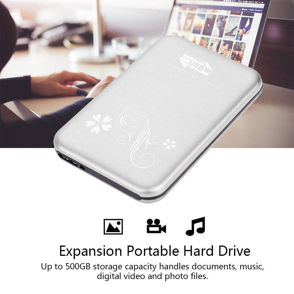 "External Hard Drives - 2.5"" 500G Portable Mobile External Hard Disk Drive USB 3.0 - [SILVER) / RED)]"