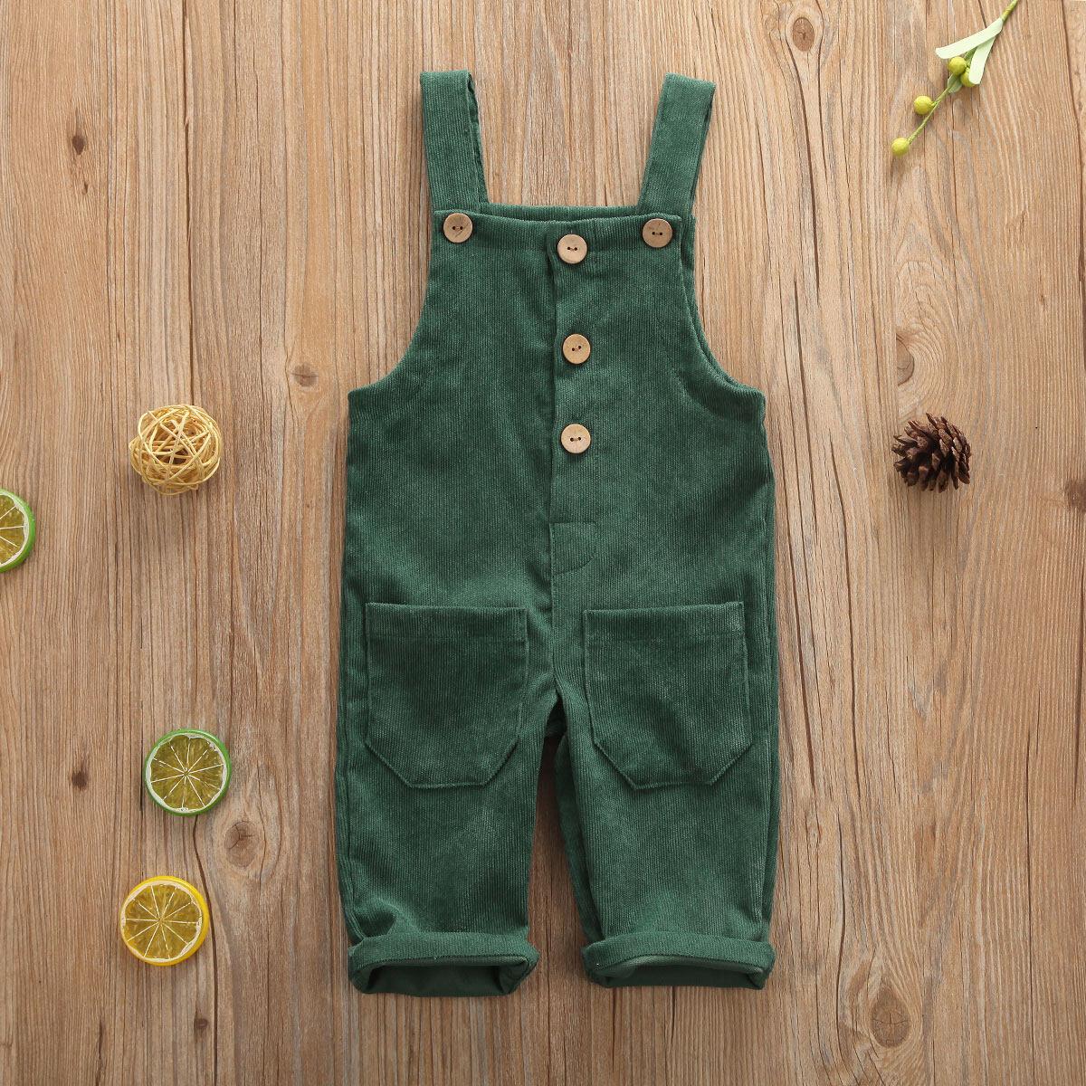M & Bเด็กชายเด็กผู้หญิงSolidโดยรวมกางเกงขายาวสายเอี๊ยมCasual Corduroyเอี๊ยมทารกกางเกงOutwearสำหรับ 0-5 ปีเด็กวัยหัดเดินเด็ก