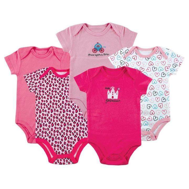 5 Pieces Set Baby Girl Carter's Cotton Romper Full Moon Christmas Gift Random Design ( Girl )
