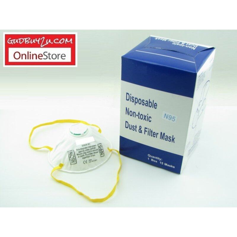 Buy 1 Box X 15 Pcs N95 Face Mask With Filter Valve Topeng Mulut N95 Malaysia