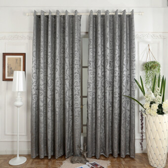 Harga 1 pcs 150x270 Luxury design kitchen door curtains bedroom drapesemi-blackout window blinds for balcony grey