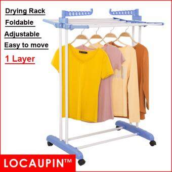 Harga 1 - Tier Locaupin Clothes Hanger Foldable Drying Rack