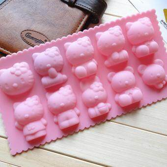 10-cavity Hello Kitty Silicone Mold | Chocolate Moulds | JellyMolds | DIY Silicon Soap Molds