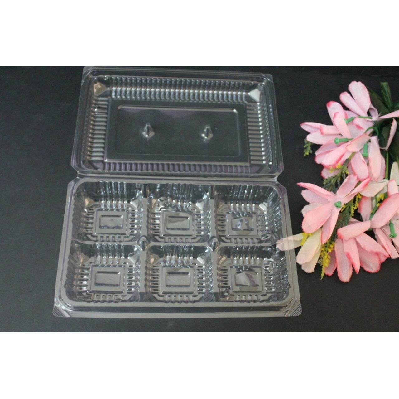 100 pcs Container Plastics For Durian Crepe And Sushi (Transparent)