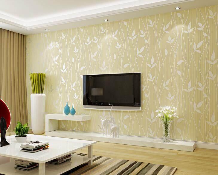 Flash Sale 100*53cm Eco-friendly Non-woven Wallpaper Flocking Tree ...