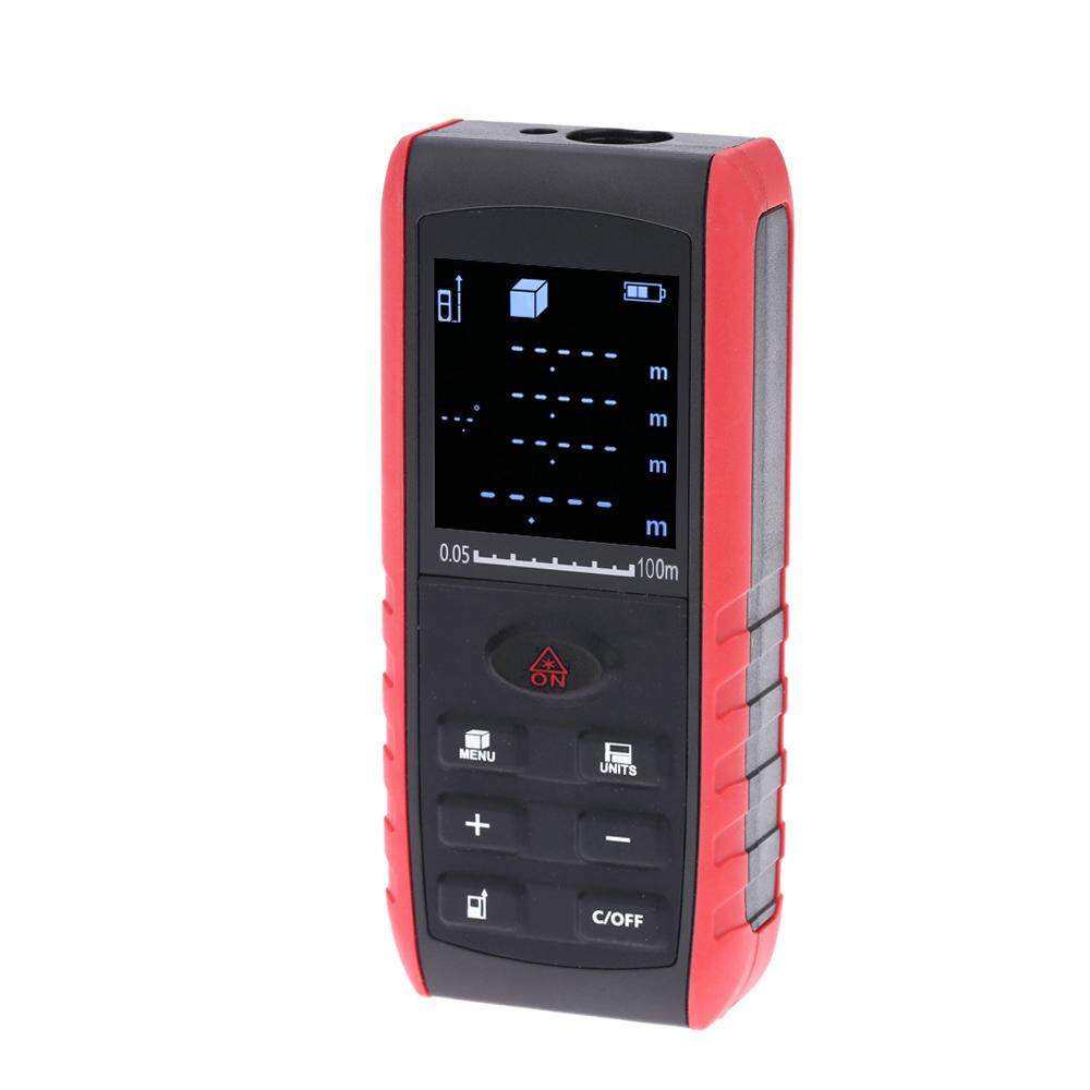 100m Portable Handheld Digital Laser Distance Meter Range Finder Area Volume Measurement with Angle Indication .