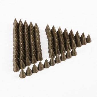 100pcs 7*10mm Metal Cone Spikes Screwback Studs DIY Leather Craft Punk Style Rivets (