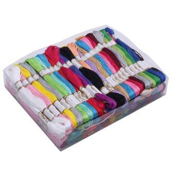100pcs Multi colour Cross Stitch Manual sewing line / polyestercotton Embroidery Thread Crafts