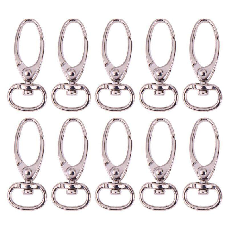 Buy 10pcs Retro Style Antique Silver Finish Luggage Bag Buckle Lobster Clasps(Silver)-16mm Malaysia