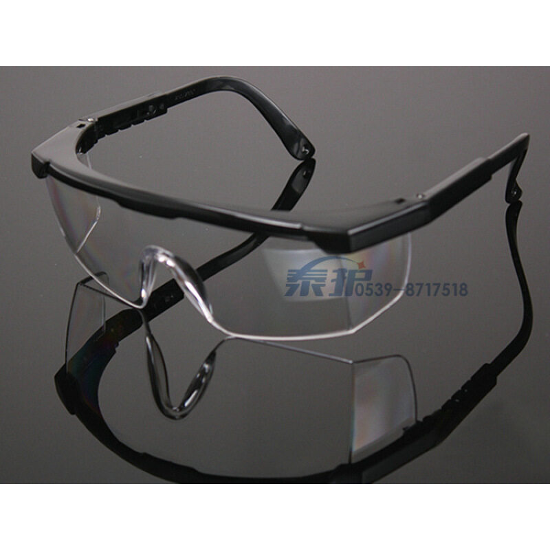 (10PCS) sports goggles labor protection glasses _ dustproof anti impact industrial safety _Black (free shipping)