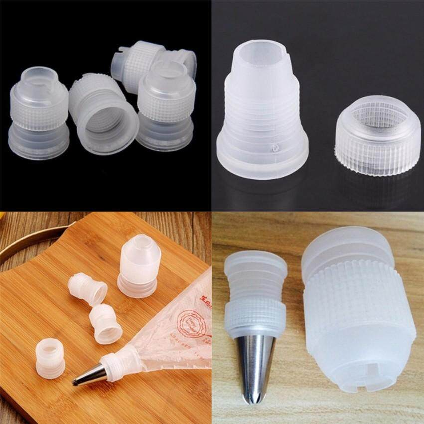 Ulasan Lengkap 10Pcs Tinny Coupler Adaptor Icing Piping Nozzle Bag Cake Flower Pastry Tool White 2 4 3 2Cm Intl