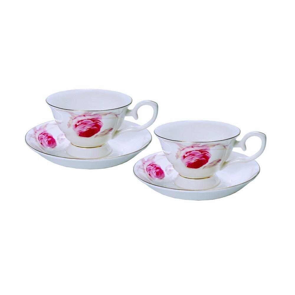 12 PCS Modern Roses Cup & Saucer Set