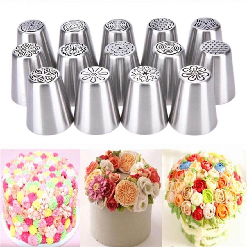 Dimana Beli 14 Type Russian Icing Piping Nozzles Tips Cake Decoratingsugarcraft Pastry Tool 2 4 4 5Cm Intl Oem