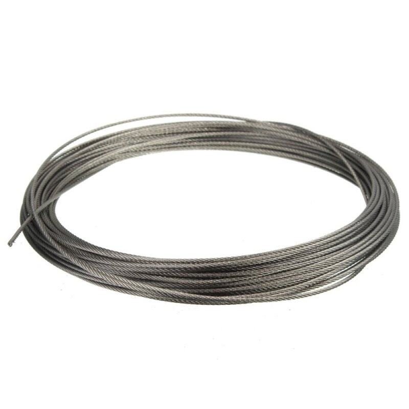 15M (50feet) 100% Marine Grade 316 Stainless Steel Cable Wire Rope 1/16 1.5MM