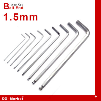 Harga 1.5mm , 20cps , Extra Long Hex Key, m1.5 Ball End wrench , alloysteel Allen key hand tools , China fasteners Manufactuer