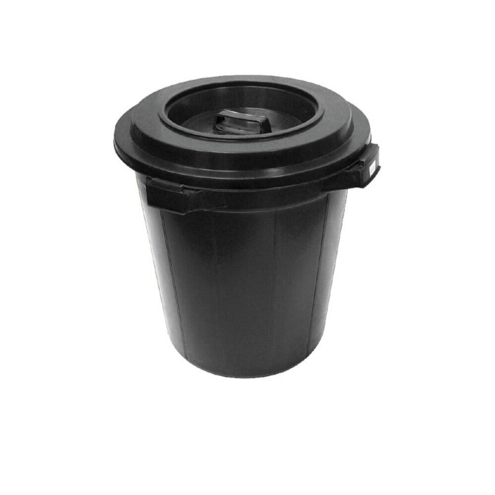 1pc Black Dustbin 12 Gallon (Black)