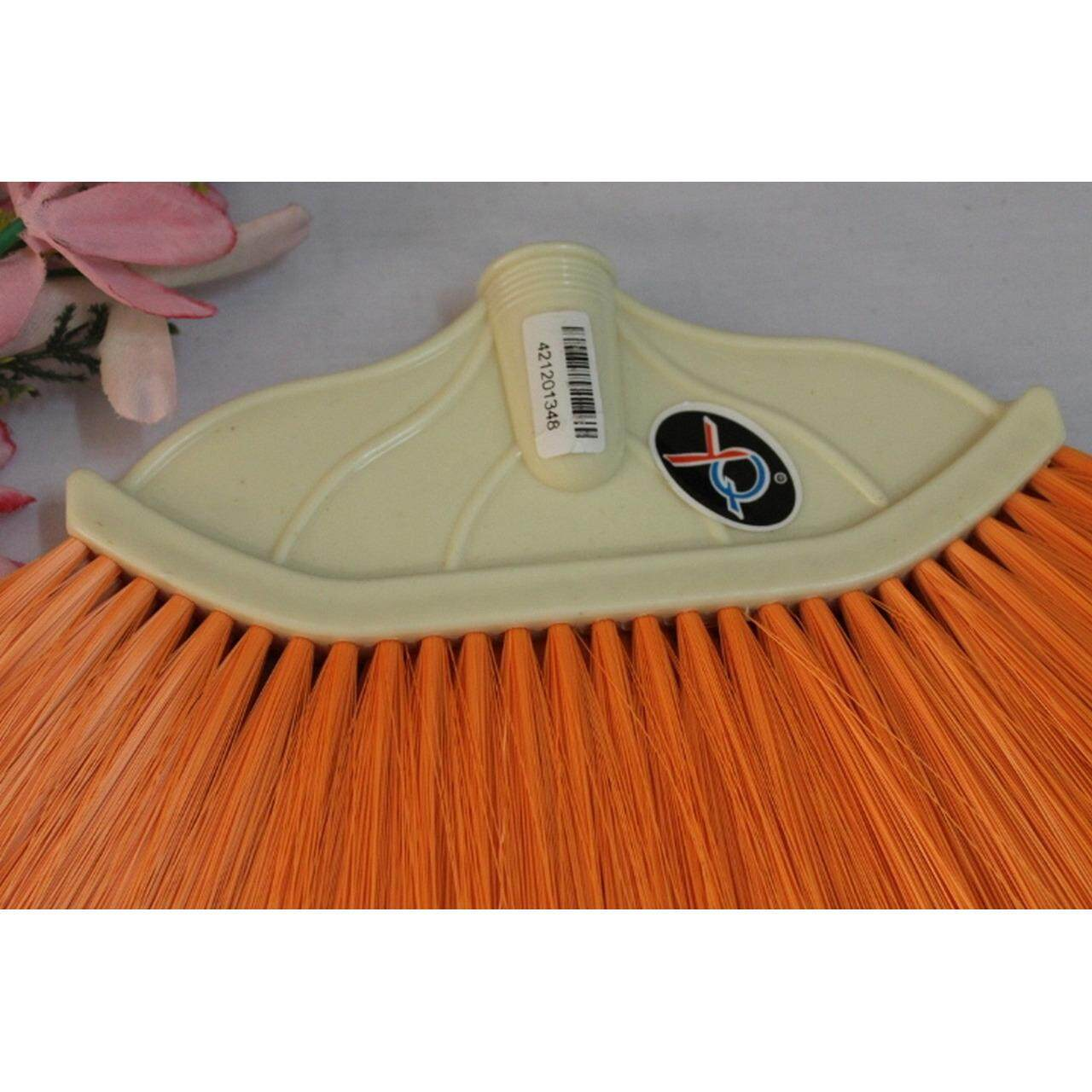 1pc Colour Nylon Imported Broom with 2 Feet Wood Handle (Multicolour)