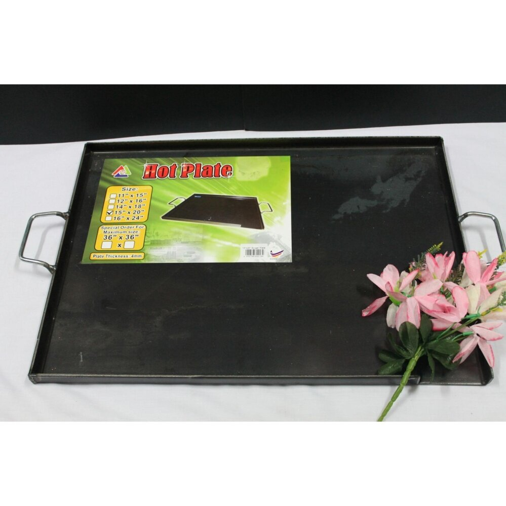 1pc Hot Plate L38CM x W51CM for Burger, Fish, Otak Otak, Roti Canai. Same Day Ship !