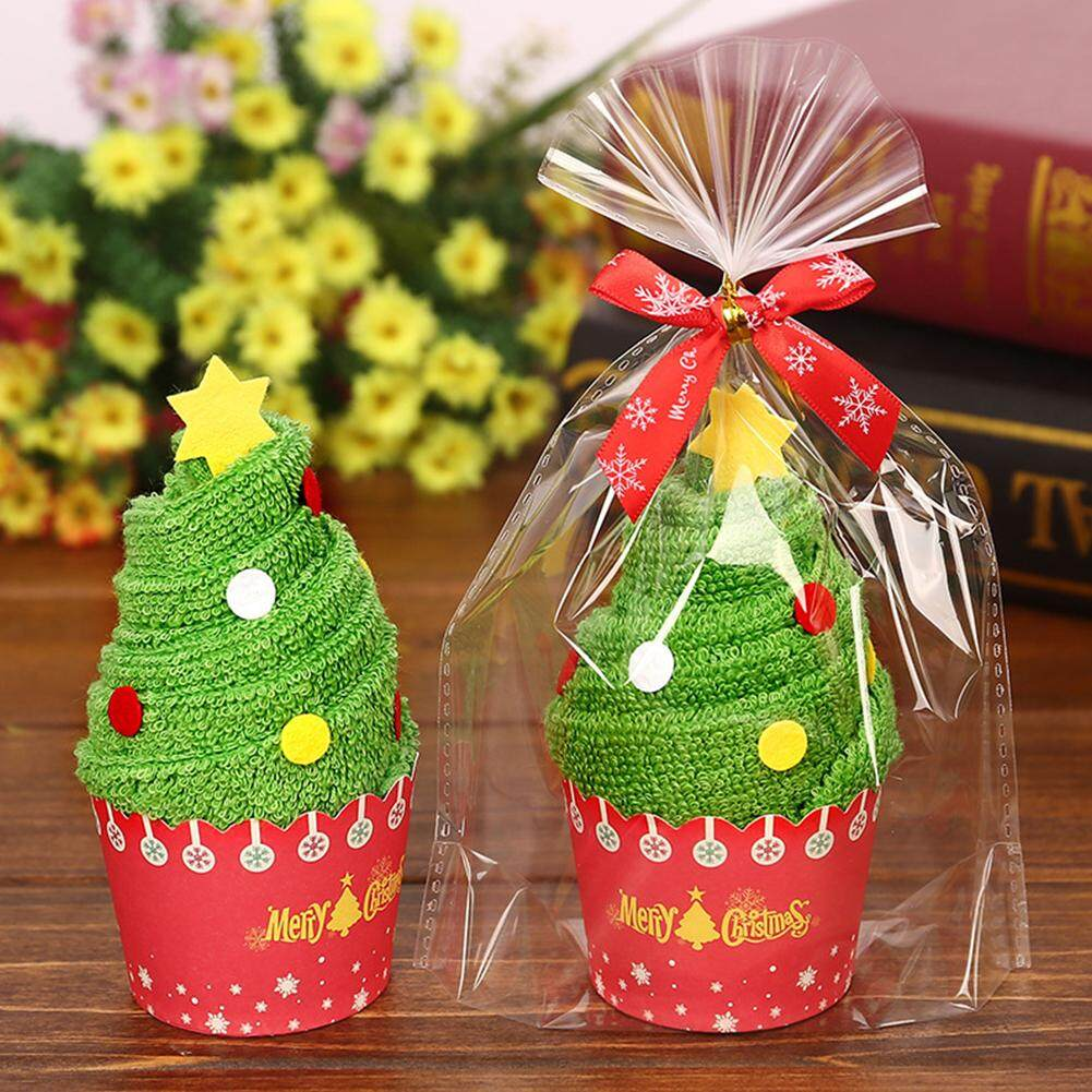 1 PC/2 Pcs/3 Pcs 30*30 Cm Natal Kreatif Kue Handuk Pesta Festival Dekorasi Taman Kanak-kanak hadiah Hadiah Gaya: pohon Natal-Internasional