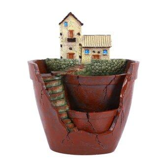 Harga 1pcs Hanging Garden Shape Resin Cute Sky Garden Flower Pot ForPlanting Succulent Plants Garden Decoration Hot