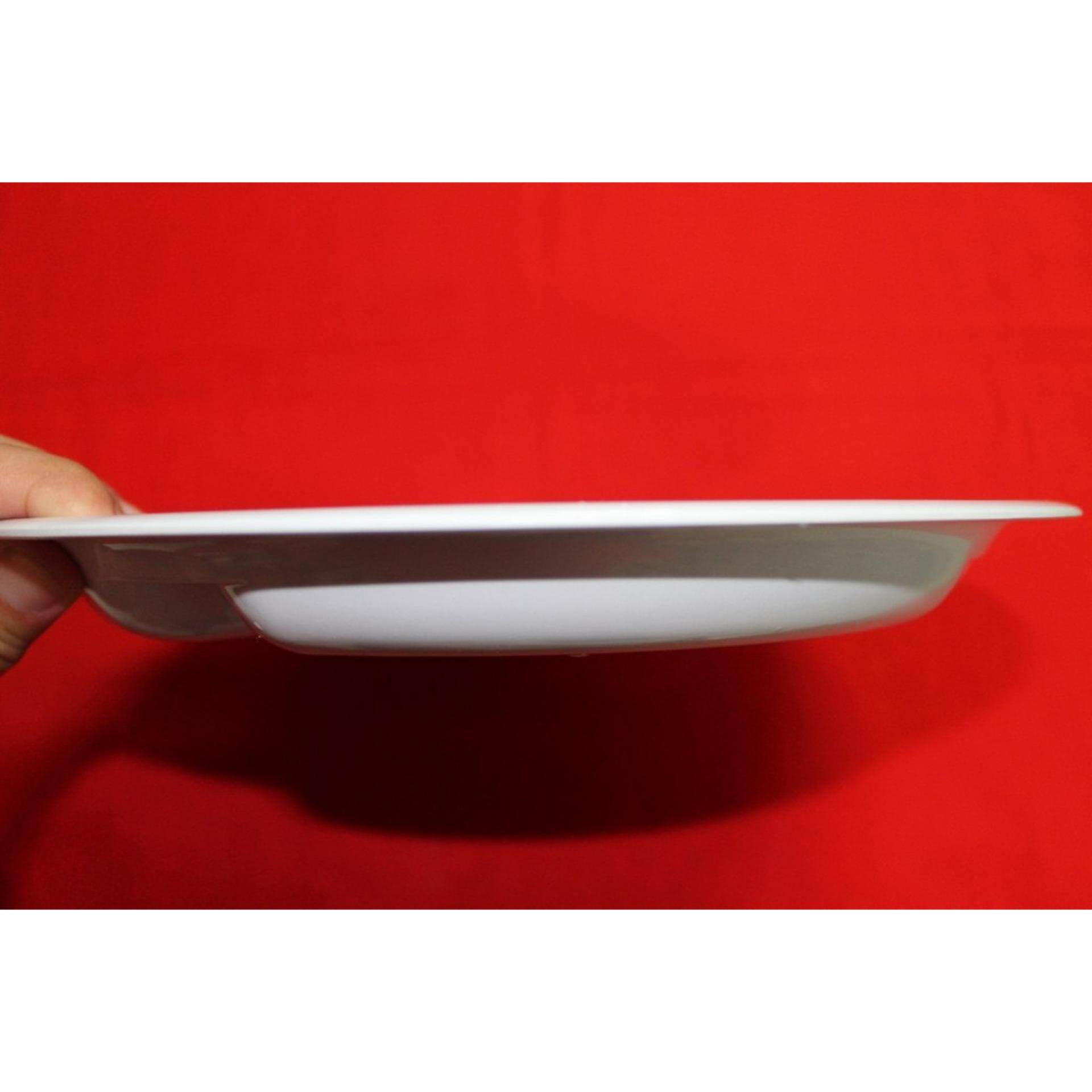 1pcs High Quality And Thickness Melamine Plate 3 Partitions. Ship in 6 Hours ! (white)