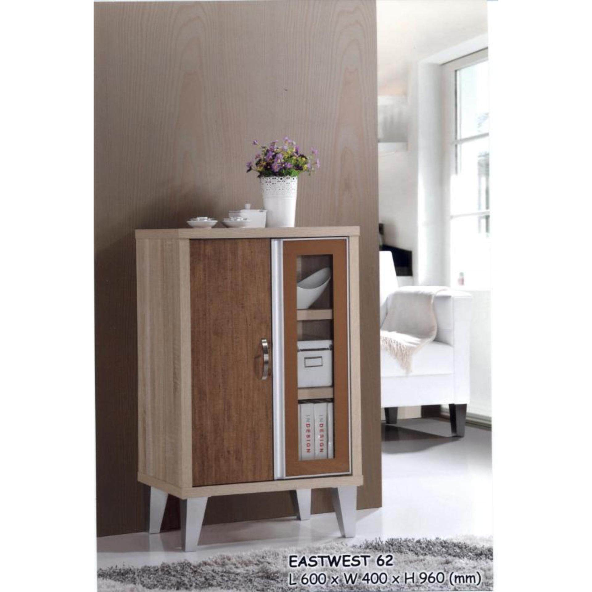 2 Door 2 Feet Solid Multi-Purpose Cabinet Wood