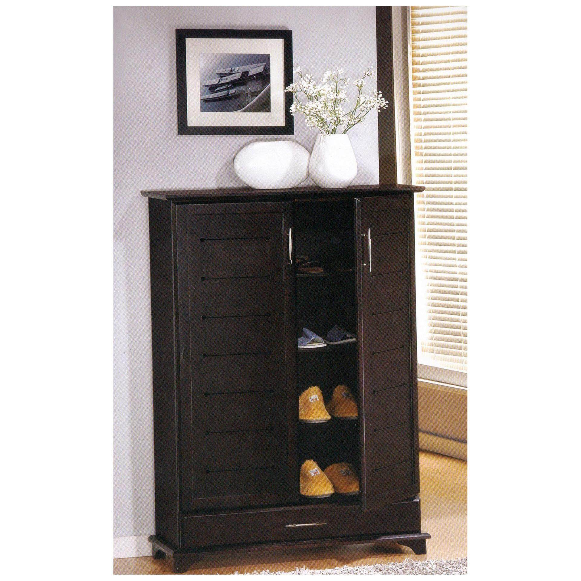 2 Door 4 Layer Solid Wood Shoes Cabinet (Oak) L915MM X W355MM X H1270MM