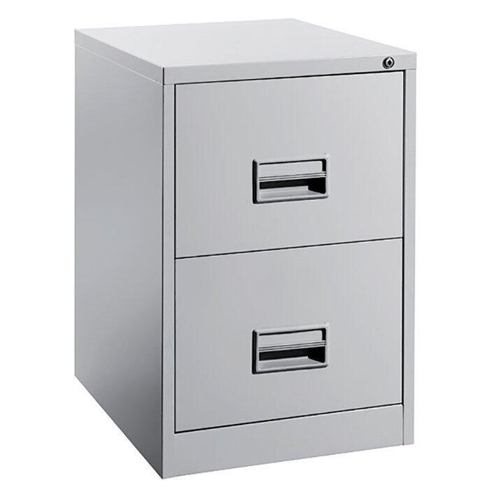 2 Drawer Metal Filing Cabinet (Grey) | Lazada Malaysia