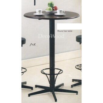 2-Feet Round Solid Wood Table/Bar Table/Disco Table/Pub Table/High Table/Dining Table/Writing Table/Mamak Table L600MM X W600MM X H1080MM Pre Order 1 Week