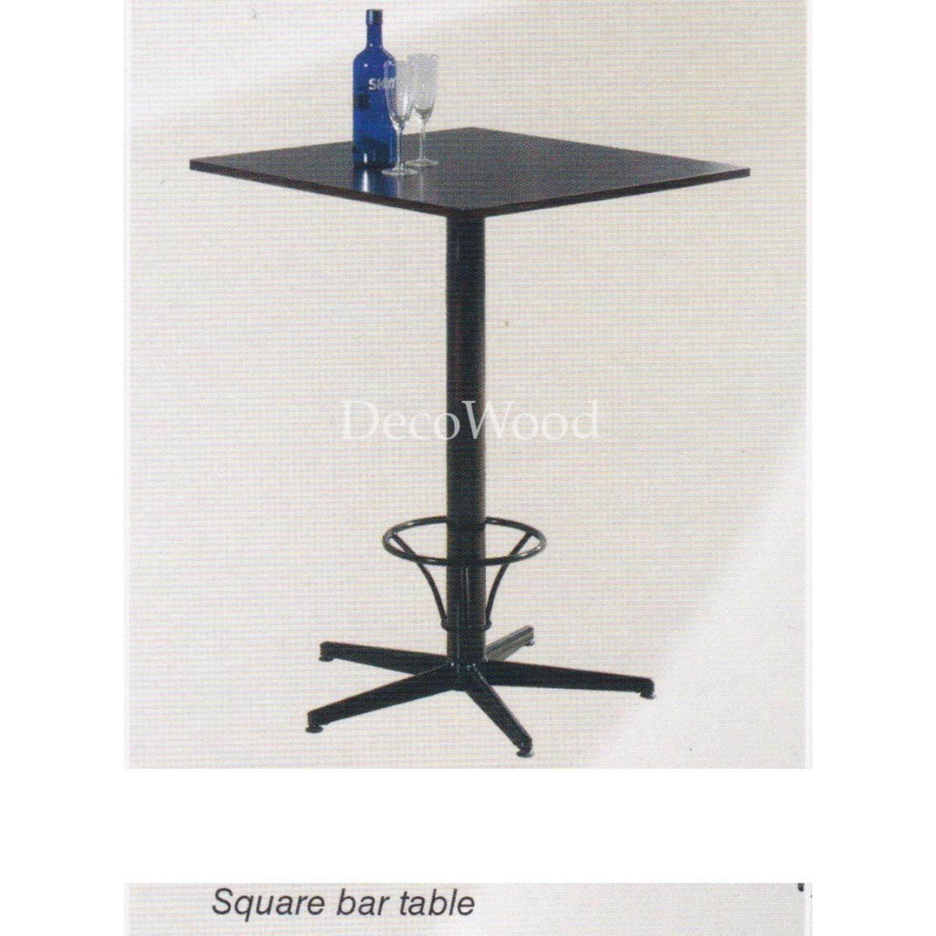 2-Feet Square Solid Wood Table/Bar Table/Disco Table/Pub Table/High Table/Dining Table/Writing Table/Mamak Table L600MM X W600MM X H1080MM