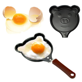 2 PCS Mini Pig Shaped Non-Stick Egg Frying Pan Cooking Fried EggPancakes Cookware New