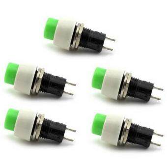 2 PCS New Green Mini 2 pin Round Toggle Selflocking Power ON/OFFPush Button Switch - 5