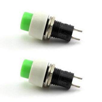 2 PCS New Green Mini 2 pin Round Toggle Selflocking Power ON/OFFPush Button Switch