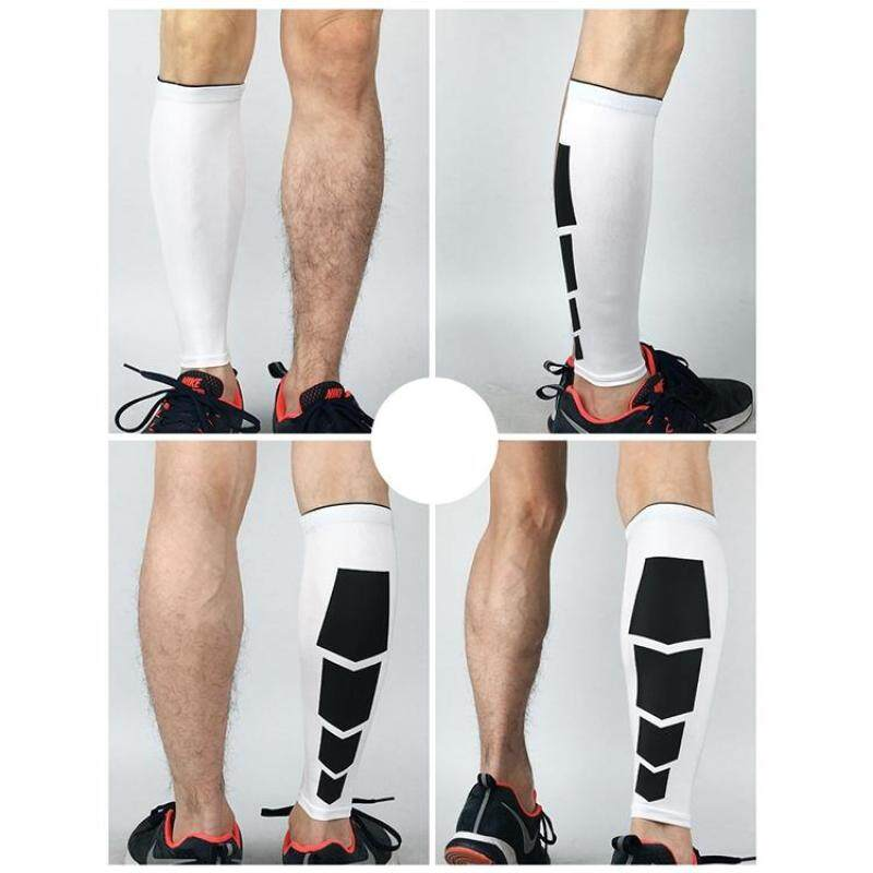2 PCS Sports High Elastic Thermal Outdoors Climbing Basketball Knee Support Guards, Size: M(White)