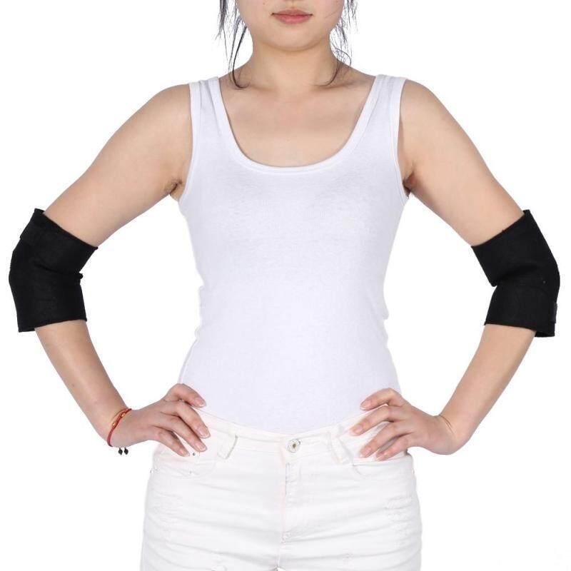 Buy 2 pcs/set Self-heating Tourmaline Elbow Support Brace Pad Health Care Arthritis Protector Belt Malaysia