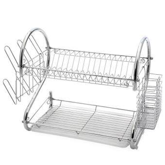 2-Tier Stainless Steel Dish Drying Holder Rack by foci cozi - 2