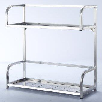 2-Tier Stainless Steel Kitchen Condiment Rack(Large).