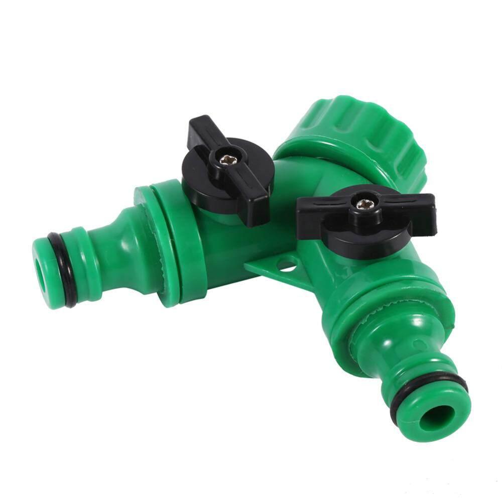 2 Way Screw Hose Pipe Splitter Y Connector Adaptor Garden Irrigation Tool - intl