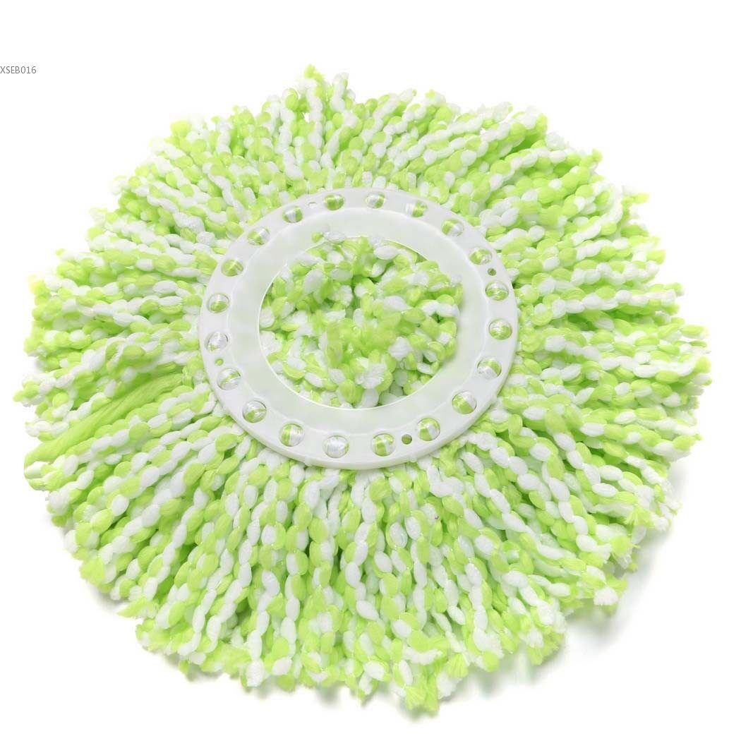 2 x Universal Replacement Microfiber Fabric Mop Head  for 360 Easy Magic Spin Mop (Green)