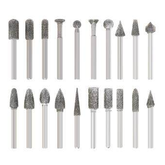Review 20pcs 6mm Shank Diamond Grinding Heads Mini Drill