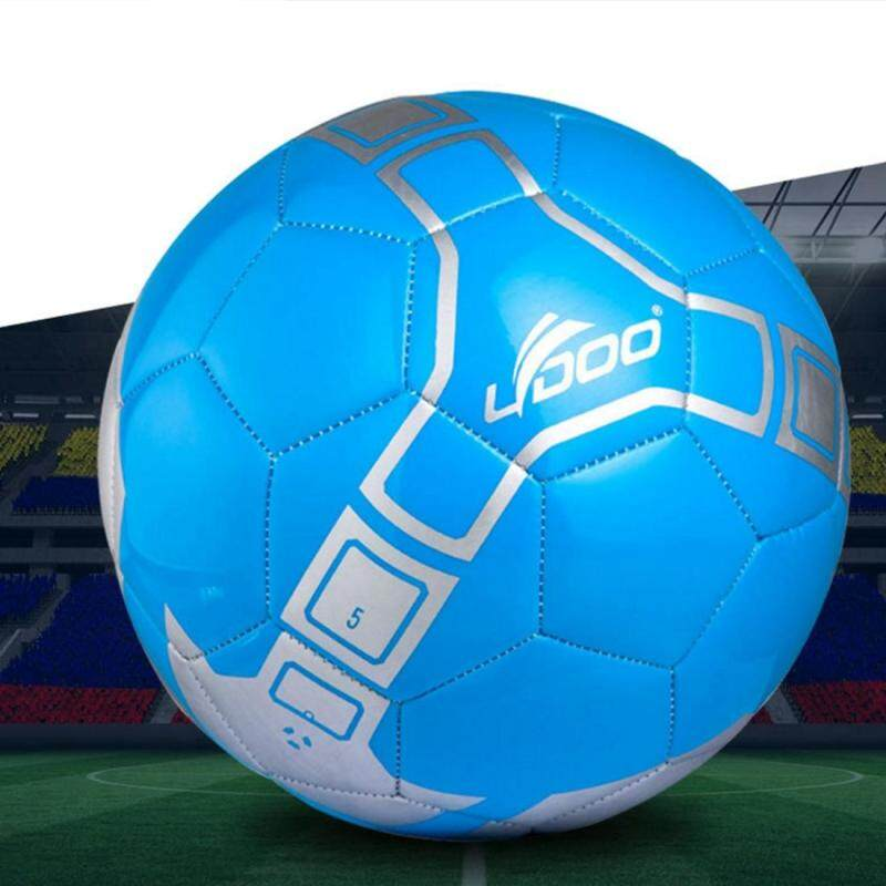 Buy 21.5cm PU Leather Sewing Wearable Match Football (Blue) Malaysia