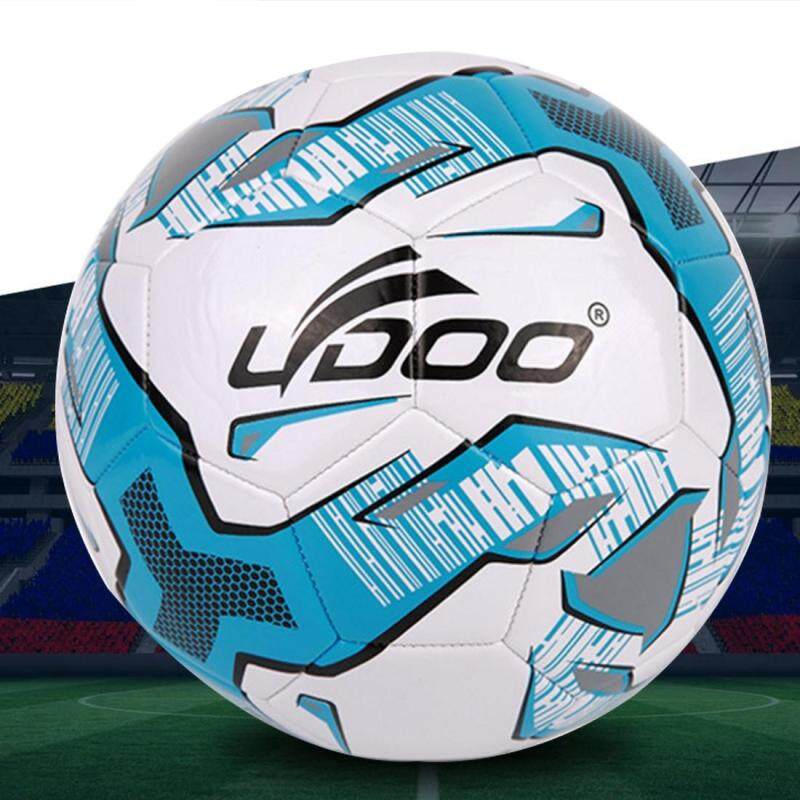 Buy 21.5cm PU Leather Sewing Wearable Match Football (Fluorescent Blue) Malaysia