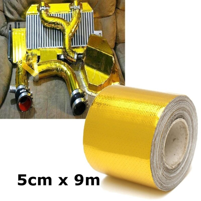 2x30 Roll Self Adhesive Reflective Gold High Temperature Heat Shield Wrap Tape